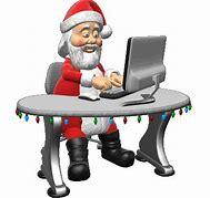 Santa and computer